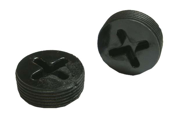 Brush caps external thread all plastic mm cap