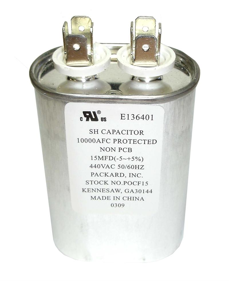 55 uf mfd 440 volt quot run quot oval capacitor
