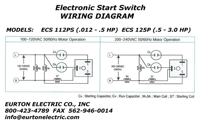 switch and electrical schematic wiring diagram electronic motor start switch ecs112ps switch box electrical schematic wiring