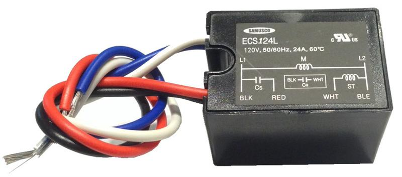 Electronic motor start switch ecs124l for Electric motor centrifugal switch replacement