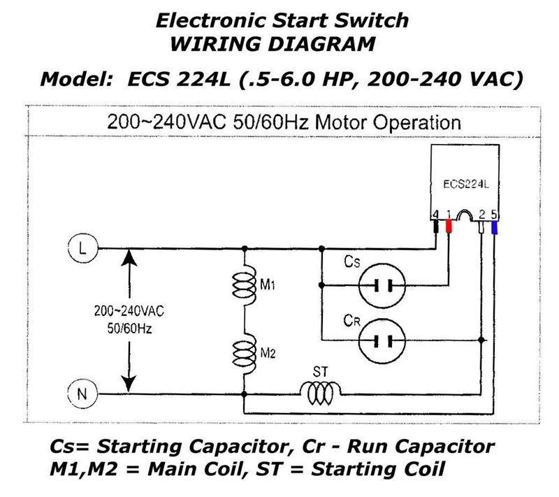 Electronic Motor Start Switch Ecs224l