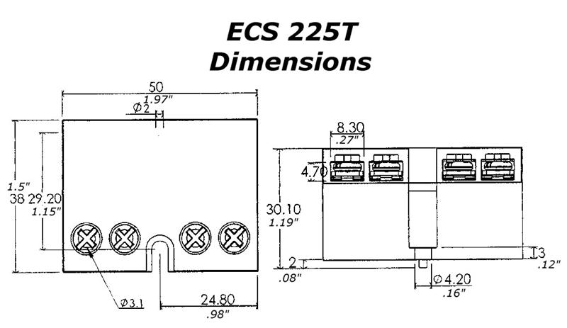 electronic motor start switch ecs225t