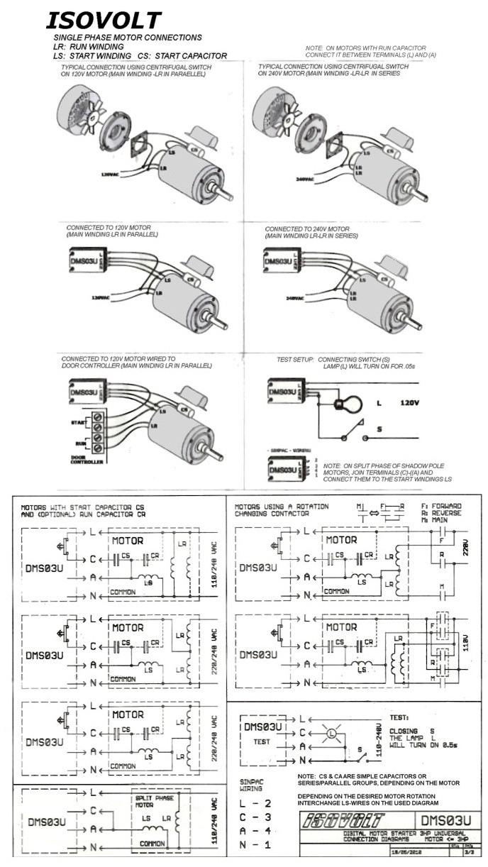 Universal Motor Start Module Dms05u 120v Wiring Example Electrical Diagram Price 4075