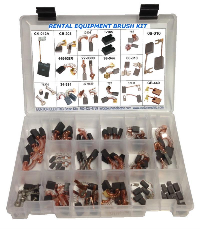 Electric Motor Brush Repair Kit: Rental Equipment Motor Brush Kit #RNTL-KIT