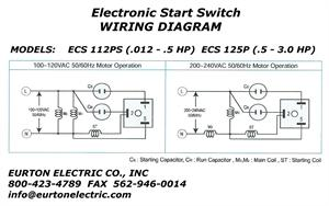 240 vac wiring diagram electronic motor start switch ecs125p  electronic motor start switch ecs125p
