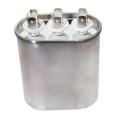 45 10uf 370 volt oval dual run capacitor for 370 volt 10 mfd motor run oval capacitor