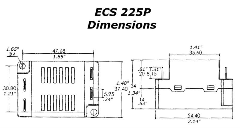 electronic motor start switch ecs225p